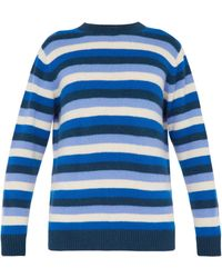 The Elder Statesman - Inch Striped Cashmere Jumper - Lyst