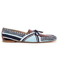 Gabriela Hearst - Hays Crocodile-effect Leather And Crochet Loafers - Lyst