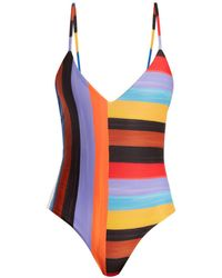 Mara Hoffman - Emma Sunglow Stripe-print Scoop-back Swimsuit - Lyst