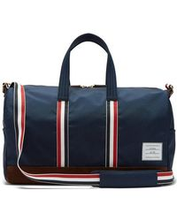 Thom Browne - - Suede Trimmed Canvas Holdall - Mens - Navy - Lyst