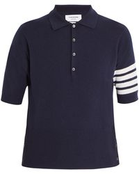 Thom Browne - Striped-sleeve Cashmere Polo Shirt - Lyst