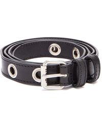 Maison Margiela - Eyelet Leather Belt - Lyst