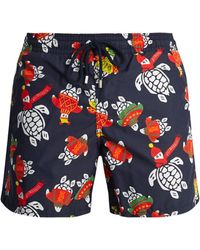 Vilebrequin - Moorea Jumper Turtles-print Swim Shorts - Lyst
