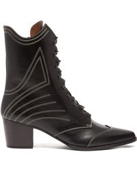 Tabitha Simmons - Swing Lace-up Leather Ankle Boots - Lyst