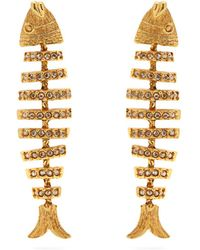 Oscar de la Renta - Fish Crystal-embellished Earrings - Lyst