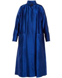 ROKSANDA - Karel High Neck Wool Blend Coat - Lyst