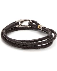 Paul Smith - Triple Wrap Leather Bracelet - Lyst