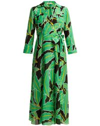 Diane von Furstenberg - Clarem Cotton Blend Voile Wrap Dress - Lyst