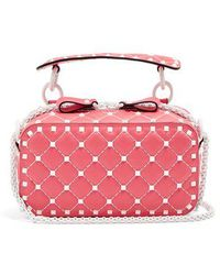 Valentino - Rockstud Spike Quilted-leather Cross-body Bag - Lyst