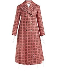 Marni - Frayed Threads Double-breasted Tweed Coat - Lyst