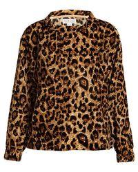 Velvet By Graham & Spencer - Moselle Leopard-print Velvet Top - Lyst