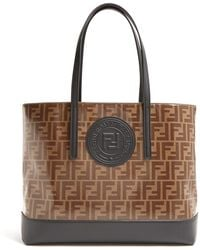 Fendi - Brown And Black Forever Shopper Tote - Lyst