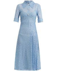 Alessandra Rich - Sable Nurse Floral-lace Dress - Lyst