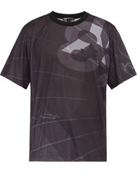 Y-3 - Logo Perforated Jersey Football T Shirt - Lyst