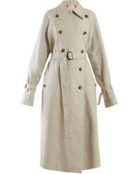 ROKSANDA - Daksa Sequinned Linen Trench Coat - Lyst