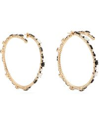 Valentino - Crystal Hoop Earrings - Lyst