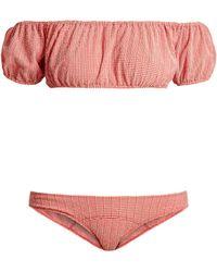 Lisa Marie Fernandez Leandra Gingham Seersucker Bikini