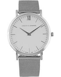 Larsson & Jennings - Women's Lugano 40mm Silver Stainless Steel Metal Watch - Lyst