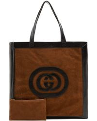 Gucci - Ophidia Large Suede Tote Bag - Lyst