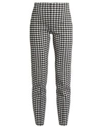 Sonia Rykiel - Checked-knit High-waisted Trousers - Lyst