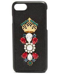 Dolce & Gabbana - Iguana Crystal-embellished Iphone® 7 Case - Lyst