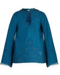 Talitha - Sana Cut-out Cotton Tunic - Lyst