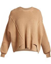 Stella McCartney - Round-neck Ribbed-knit Jumper - Lyst