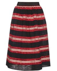 Jupe by Jackie - Striped Cotton-gauze Skirt - Lyst