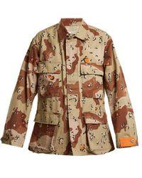 MYAR - - 1990s Usj90 American Camouflage Print Jacket - Womens - Khaki Multi - Lyst