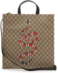 5f473b1acdad Gucci Flora Snake Print Duffle in Green for Men - Lyst