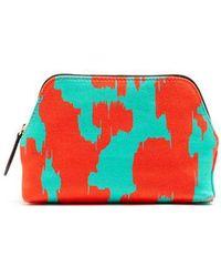 Diane von Furstenberg - Ebrba-print Canvas Cosmetics Case - Lyst