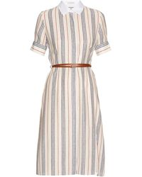 Altuzarra - Kieran Striped Crepe De Chine Shirtdress - Lyst