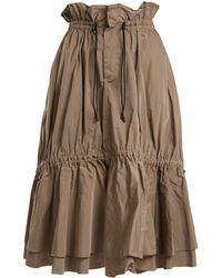 Jonathan Simkhai | Ruched Tiered Taffeta Midi Skirt | Lyst