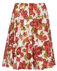Emilia Wickstead - Polly Floral-print A-line Skirt - Lyst