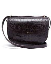 A.P.C. - Genève Crocodile-effect Leather Cross-body Bag - Lyst