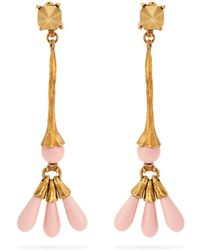 Valentino - Long Bead-drop Earrings - Lyst