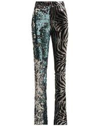 Halpern - Sequined Slim-leg Flared Trousers - Lyst
