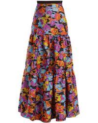 Mary Katrantzou - Bridge Floral Fil-coupé Skirt - Lyst