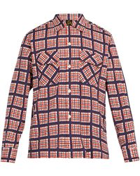 Needles - Raw Hem Checked Twill Shirt - Lyst