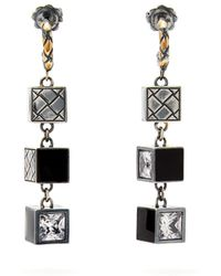 Bottega Veneta - Cube Sterling-silver Drop Earrings - Lyst