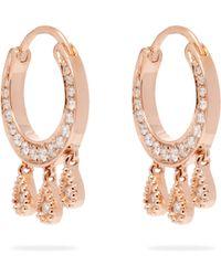 Jacquie Aiche - Diamond & Rose Gold Earrings - Lyst