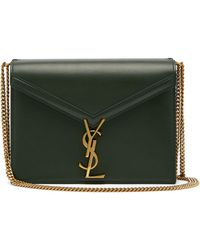 Lyst - Saint Laurent Kate Medium Ysl Monogram Raffia Crossbody Bag ... 6ea1731b901cf