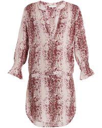 Heidi Klein - Monaco Snakeskin-print Tunic Dress - Lyst
