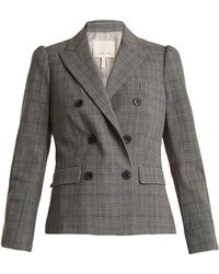 Rebecca Taylor - Double-breasted Checked Jacket - Lyst
