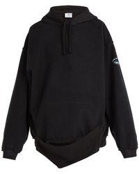 Vetements - Inside Out Hooded Sweatshirt - Lyst