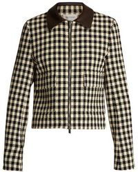 Wales Bonner - Louis Checked Cotton-blend Cropped Jacket - Lyst