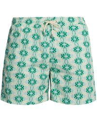 4a01566f0d Le Sirenuse Snail Print Swim Shorts in Blue for Men - Lyst