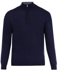 Paul Smith - High-neck Half-zip Wool Sweater - Lyst