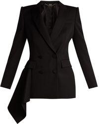 Alexander McQueen - Double-breasted Wool Grain De Poudre Jacket - Lyst