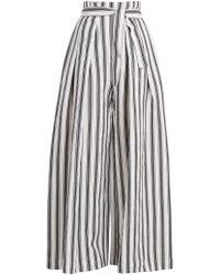 Three Graces London - Rosalinda Linen And Cotton-blend Trousers - Lyst